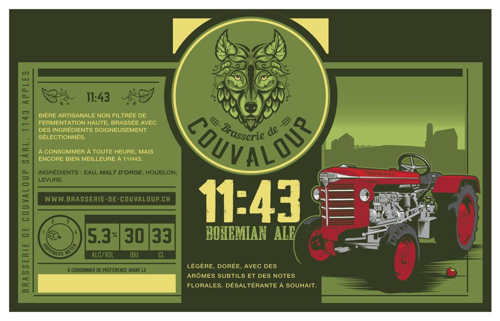 Etiquette 11:43 Bohemian Ale