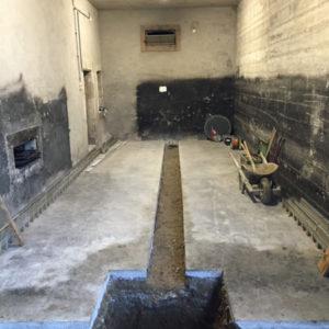 Travaux de maçonnerie pour l'évacuation des eaux usées